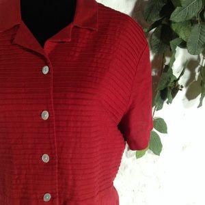 Talbots linen pintuck shirt dress
